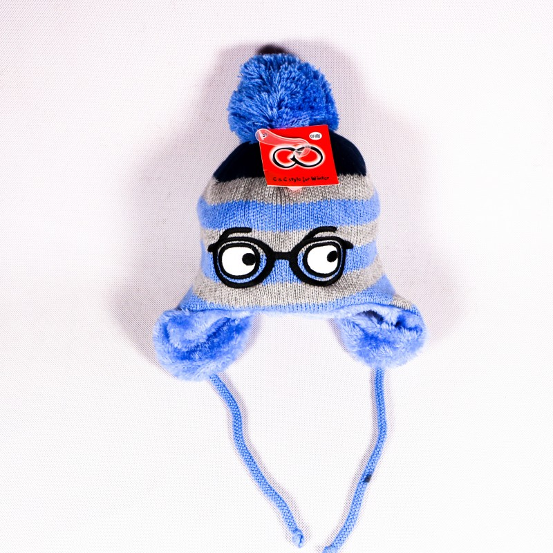 Children's winter hat Harry ZCDE013 blue