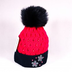 Children's winter hat Anttoni ZCDE002 pink