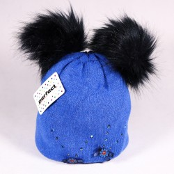 Children's winter hat Alexis ZCDE004 blue