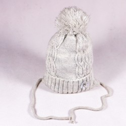 Children's winter hat Stella ZCDE006 pink, gray