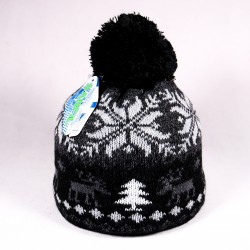 Winter children's hat James ZCDE008 black, gray