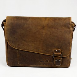 Men's leather bag Green wood Roberto L gw837