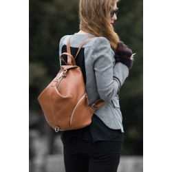 Backpack genuine leather Julieschoice Noemi j1803 12l